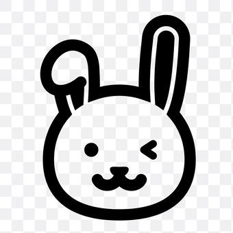 兔子(眨眼)