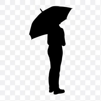 Rainy day male