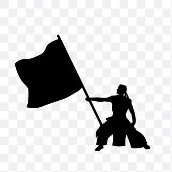 To raise a flag