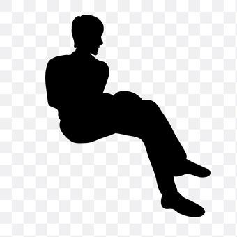 Men sitting with their legs crossed