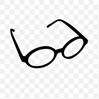 Black-faced glasses