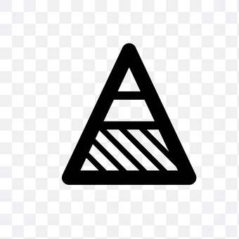 Stacked pyramid chart