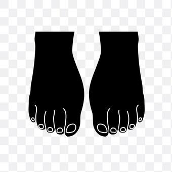 Both feet