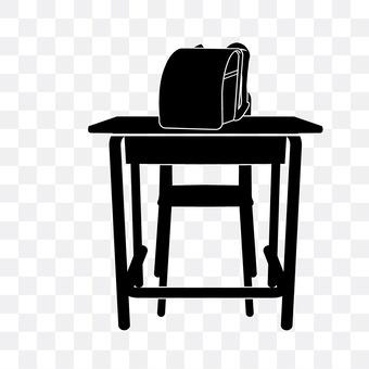 Desk and school bag