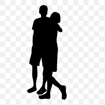 Cuddling couple 9