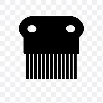 Flea removing comb