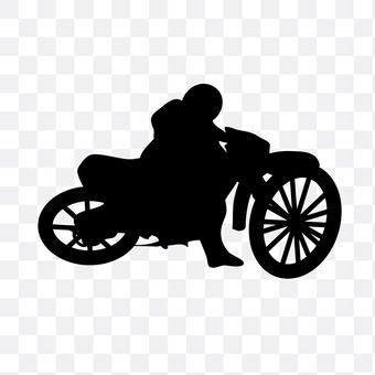 The man riding a motorcycle