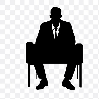 Sitting person salaried worker