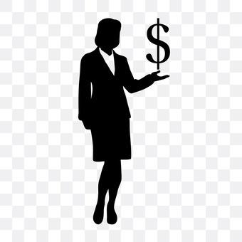 美元符号和女性