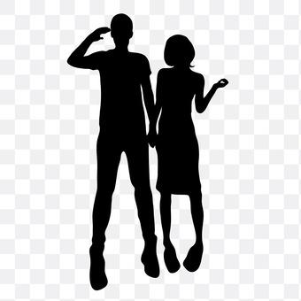 Couple deciding pose 4
