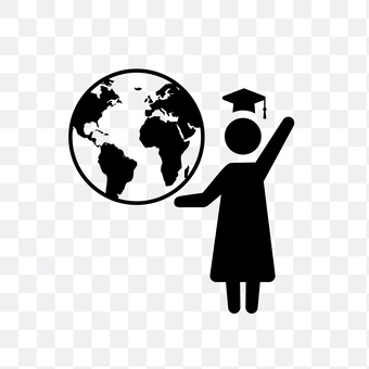 The globe and college students