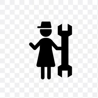 女性整备士