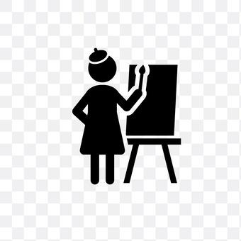 A female painter