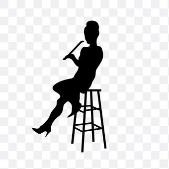 A woman smoking a cigarette