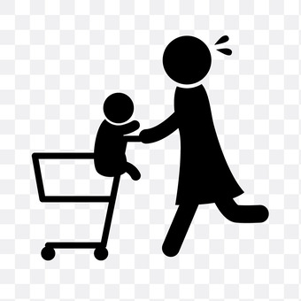 Shopping with parents and children