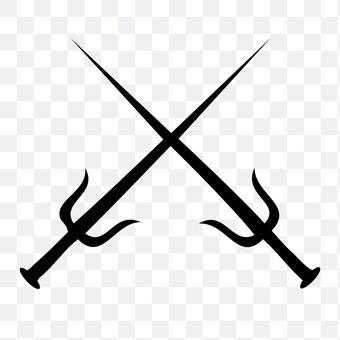 A swinging sword