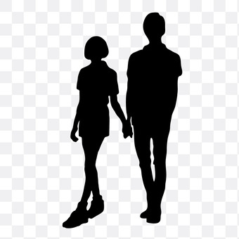 A couple holding hands 12