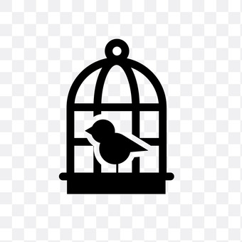 Cage and bird