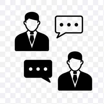 Two men who talk