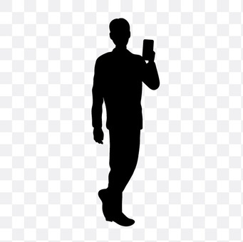A man seeing a smartphone