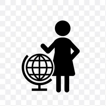 The globe and women